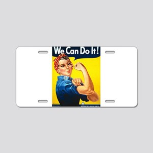 Rosie The Riveter Aluminum License Plate
